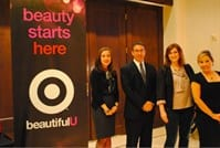 "Dr. Kristel Polder speaks during Target's ""BeautifulU"" conference"