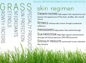 GRASS skin regimen