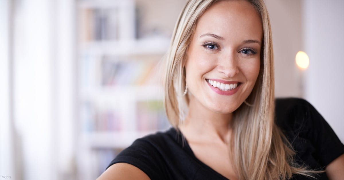 Woman in Dallas, TX considering Kybella to re-define her jawline